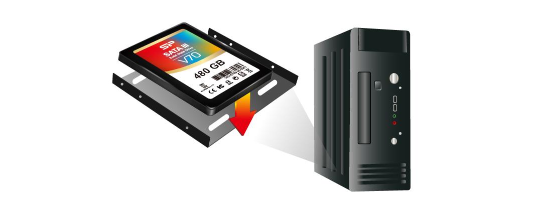 """Velox V70 3.5"""" bracket for flexible applications"""