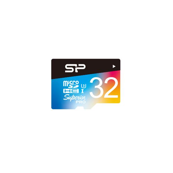 Superior Pro<br>microSDHC/SDXC_Colorful<br><font color='#888888' size='2%'>(Class 10. UHS-I U3. 4K UHD)</font>