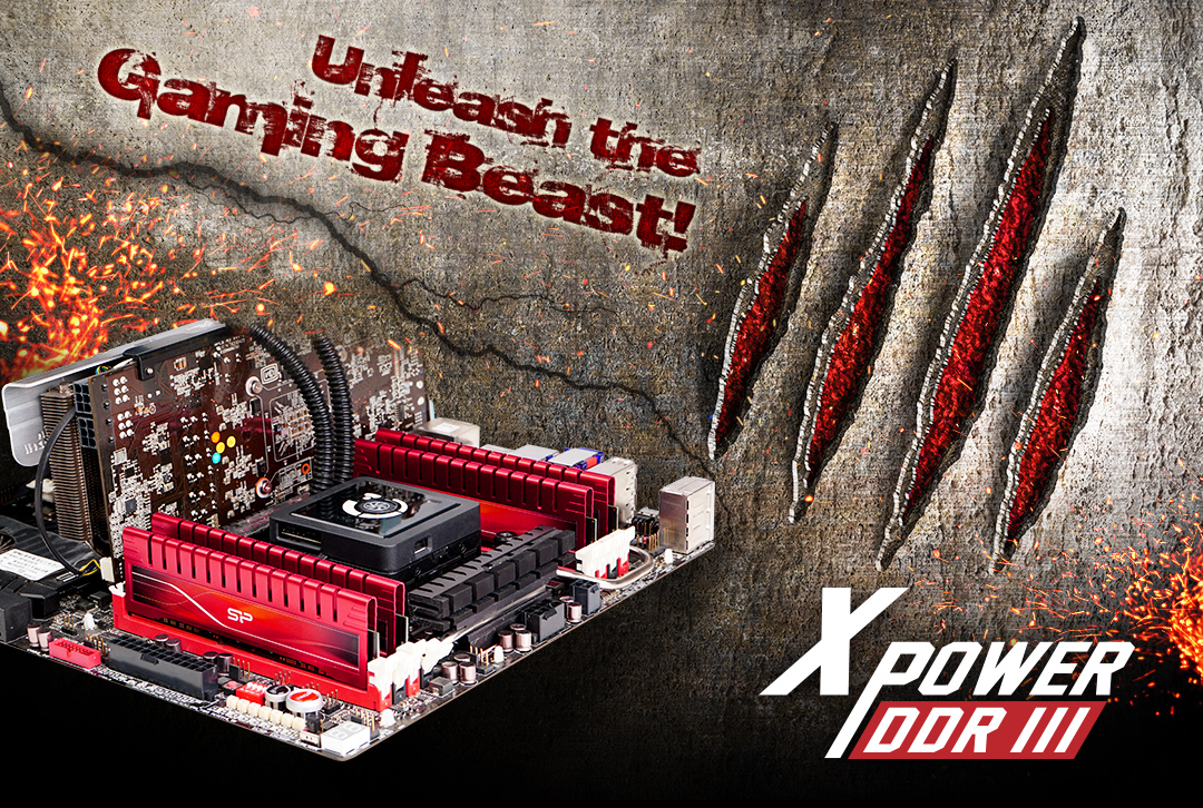 XPOWER DDR3 UDIMM<br> <font color='#888888' size='2%'>2400/2133/1866/1600 </font> Performance boost for hardcore gamers