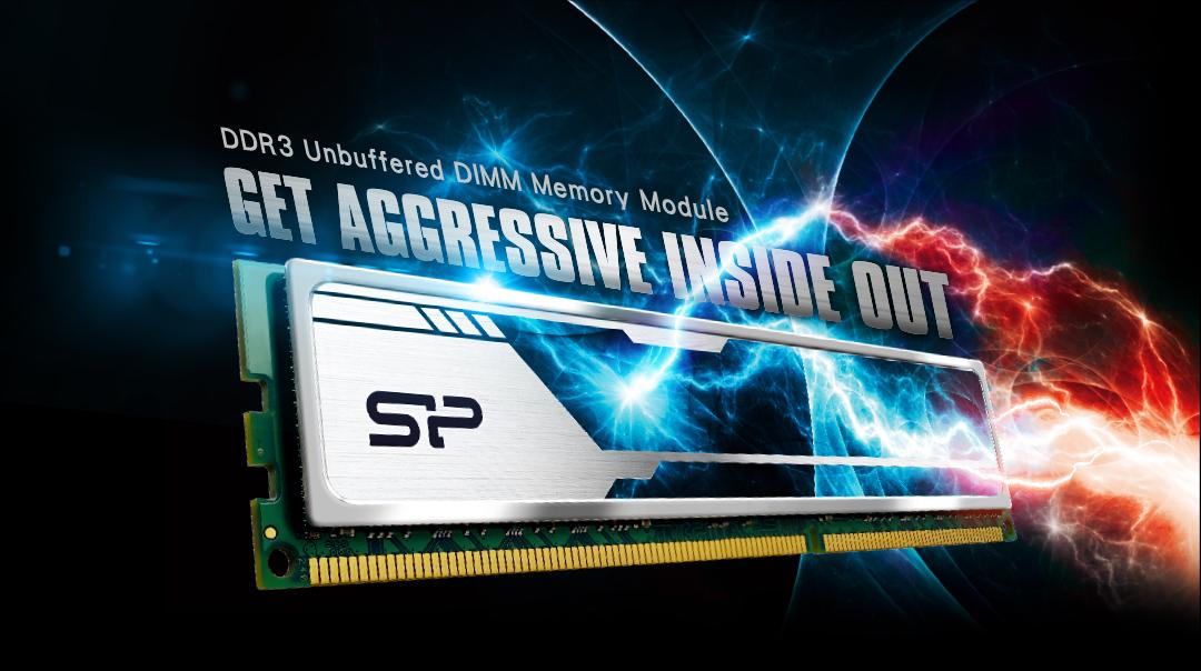 DDR3 UDIMM<br>(Heatsink)<br><font color='#888888' size='2%'>1866/1600 </font> DDR3 Unbuffered DIMM Memory Module -Get aggressive inside out