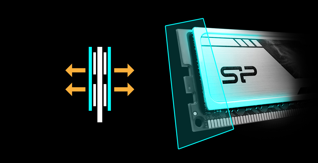 DDR3 UDIMM<br>(Heatsink)<br><font color='#888888' size='2%'>1866/1600 </font> Stay Cool