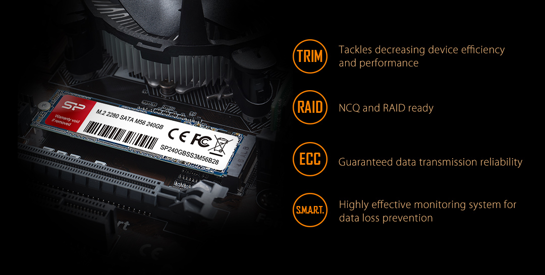 M.2 2280 M56 For Peace of Mind - Guaranteed Reliability and Stability