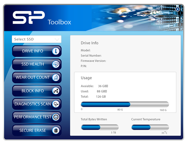 Ace A56 Free-Download of SSD Health Monitor - SP Toolbox
