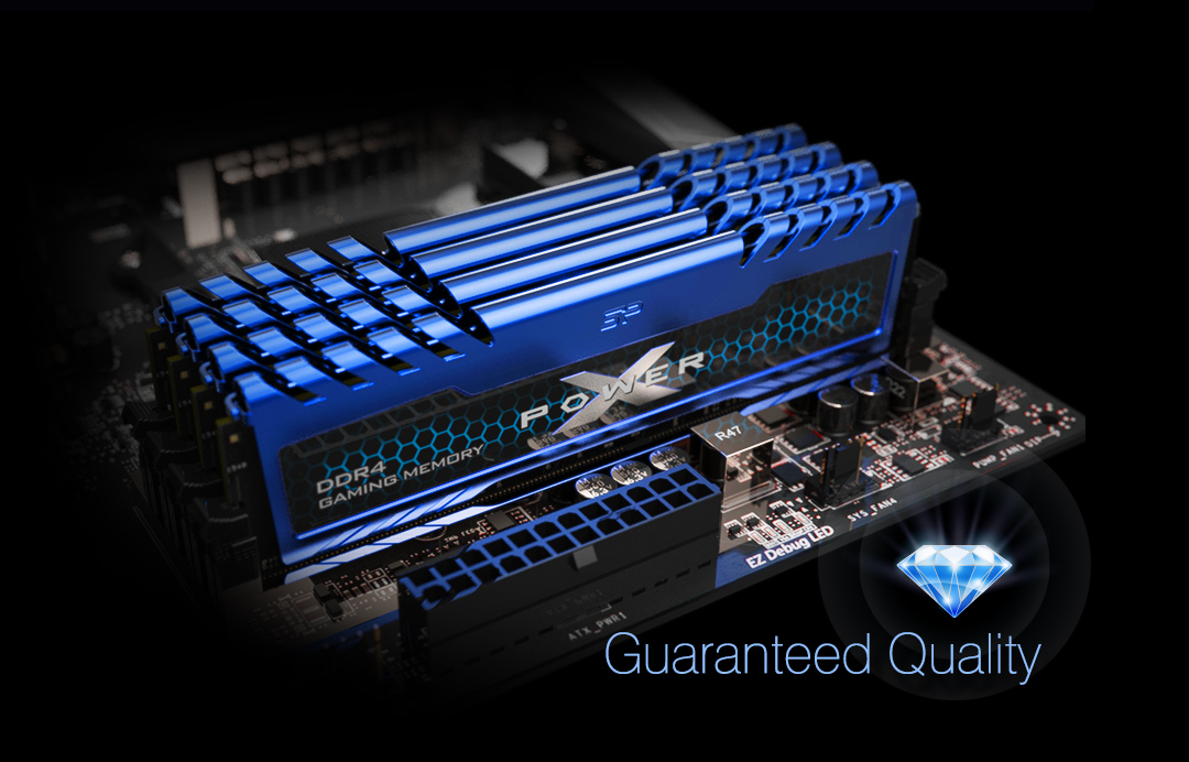 XPOWER Turbine<br> DDR4 Gaming UDIMM<br><font color='#888888' size='2%'>4133/3600/3200/3000/2666 </font> Luck Favors The Cool