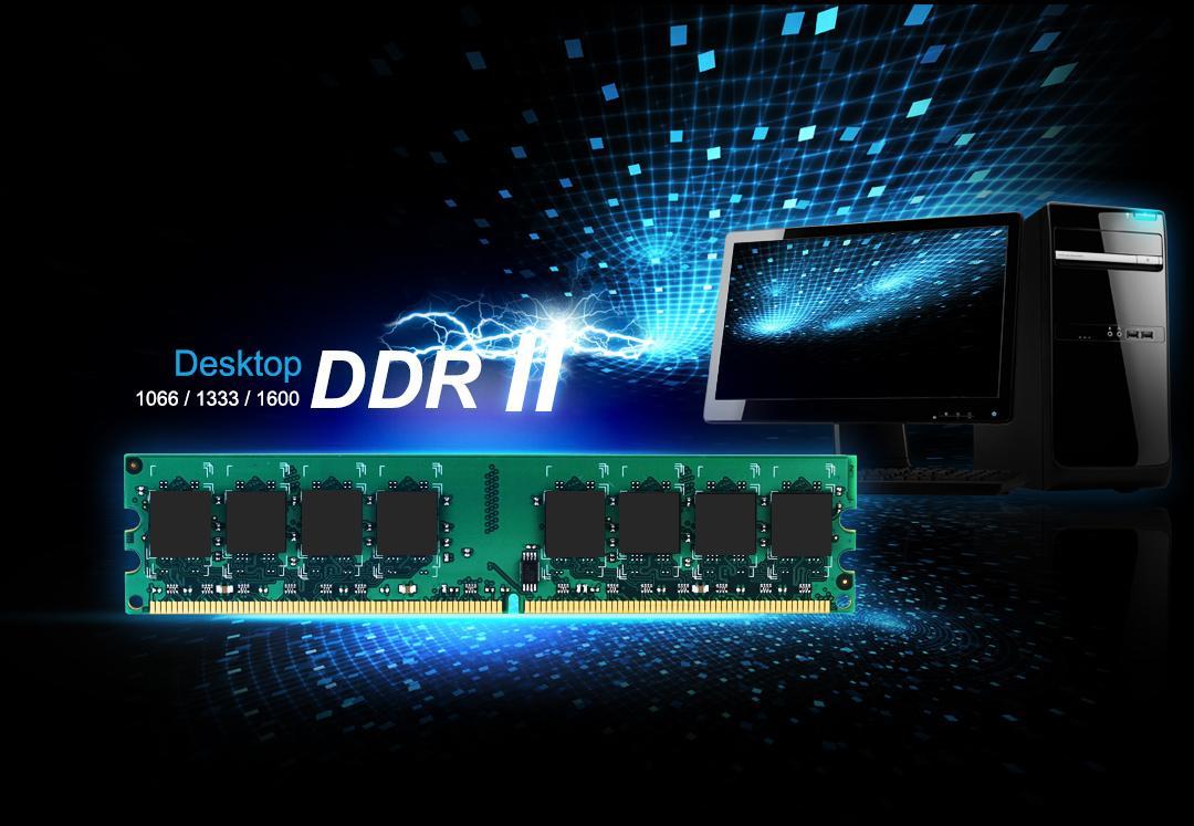 DDR2 UDIMM<br><font color='#888888' size='2%'>800/667/533 </font>