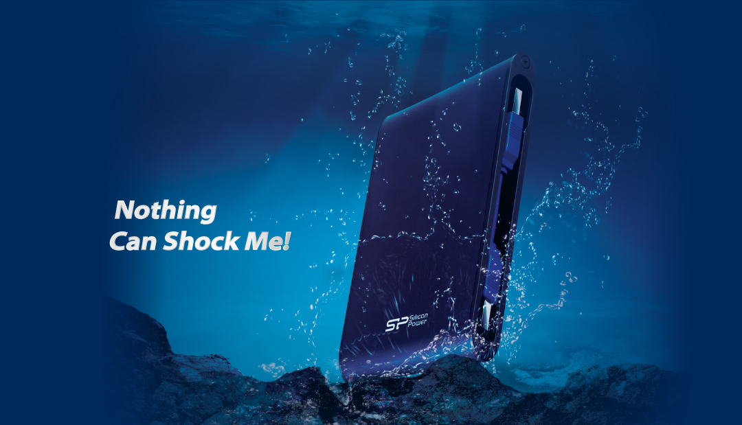 Armor A80<br><font color='#888888' size='2%'>500GB, 1TB, 2TB</font> Waterproof and Military- Grade Shockproof Portable Hard Drive