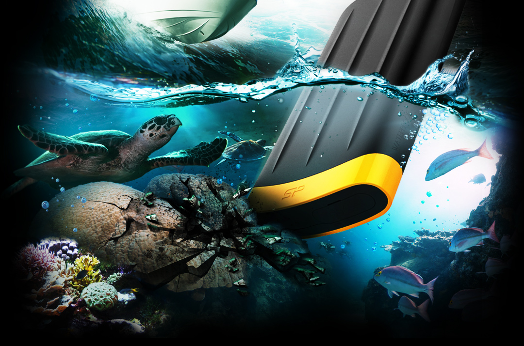 Armor A65<br><font color='#888888' size='2%'>1TB, 2TB</font> Anti-shock mechanism for better protection & Peace of Mind