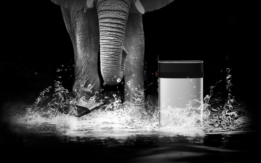 Armor A85M<br><font color='#888888' size='2%'>1TB, 2TB, 3TB, 4TB, 5TB</font> IP68 Waterproof and Military- grade Shockproof Portable Hard Drive for Mac